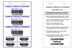 Freight Pro Label Example